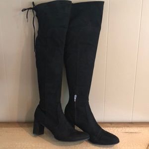 Black over the knee high boots